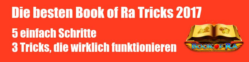 gibt es book of ra tricks
